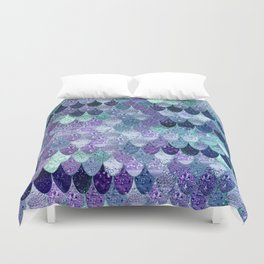 SUMMER MERMAID  Purple & Mint by Monika Strigel Duvet Cover