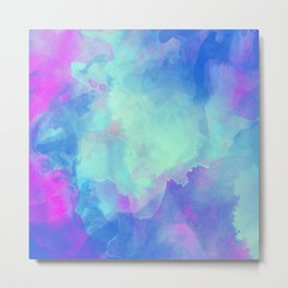 Watercolor abstract art Metal Print