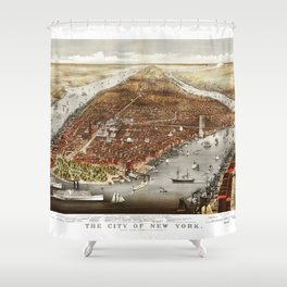 The City of New York by Currier and Ives (1876) Shower Curtain