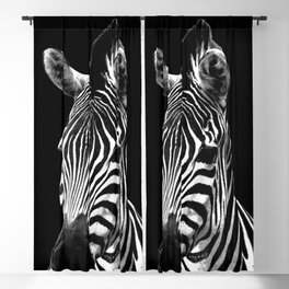 Zebra Black Blackout Curtain