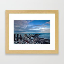 Sunrise by the sea Framed Art Print
