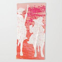 quixote and his friend Beach Towel