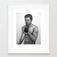 dexter Framed Art Prints featuring Dexter by Jack Kershaw