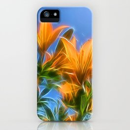 Summer Lillies by Mandy Ramsey, Soul Happy Art iPhone Case
