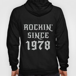 42 Year Old Classic Rock 1978 42nd Birthday Gifts Men Women Hoody