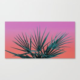 Pink Palm Life - Miami Vaporwave Canvas Print