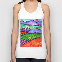 north carolina Tank Tops featuring Landscape - Boone, North Carolina by Karen Hickerson