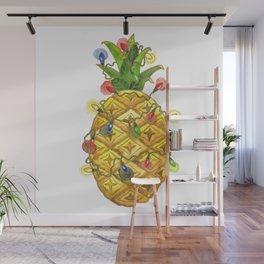 The Christmas Pineapple Wall Mural