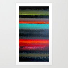 Stripe Mess Art Print