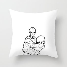Mystery Solved Alien Paranormal Expert Gift Throw Pillow