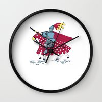 knight Wall Clocks featuring Knight by dagmar kruskova