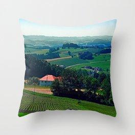 Spring scenery with hazy horizon Throw Pillow