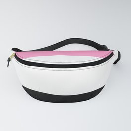 Just three colors 3 pink,white,black Fanny Pack