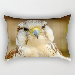 Gyrfalcon Falcon Closeup Rectangular Pillow