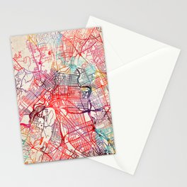 Paterson map New Jersey painting Stationery Cards