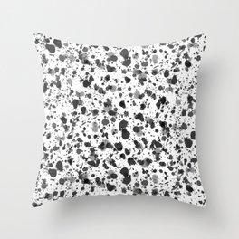 Black Splat! Throw Pillow