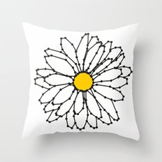 LINES AND DOTS — FLOWER Throw Pillow