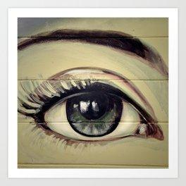 Eye Study #2 (Mural) Art Print