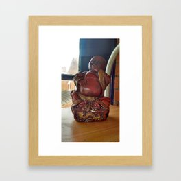 Laugh with me! Framed Art Print