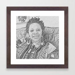 Afro Hoops Framed Art Print