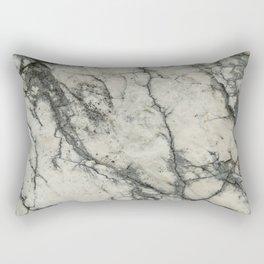 The white stone with dark grey veins Rectangular Pillow