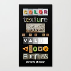 the elements of design Canvas Print