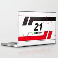 senna Laptop & iPad Skins featuring Formula E 2015/2016 - #21 Senna by MS80 Design