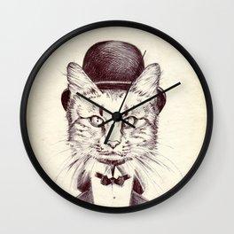 Hand drawn cat Wall Clock