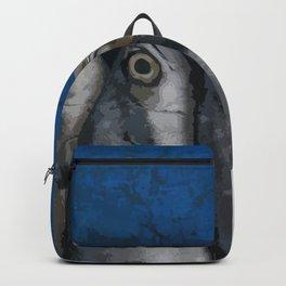 Blue Fish Illustration Backpack