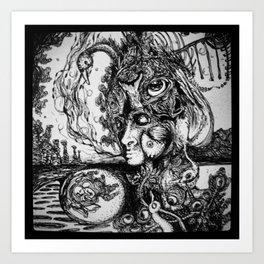 Swan Medicine Art Print