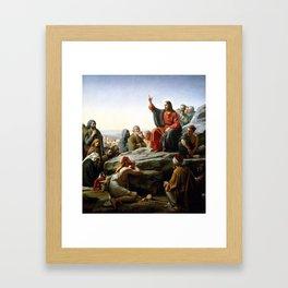 Carl Heinrich Bloch, Sermon On The Mount Framed Art Print