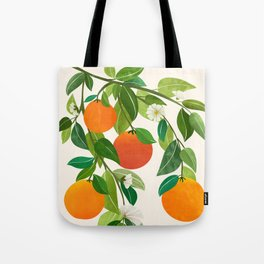 Oranges and Blossoms II / Tropical Fruit Illustration Tote Bag