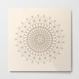 Kaleidoscope Skulls Metal Print