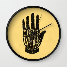 CREATE WITH YOUR HANDS Wall Clock