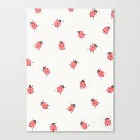 ladybug Canvas Prints featuring ladybug by Georgiana Paraschiv
