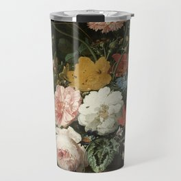 The Overturned Bouquet, Abraham Mignon, 1660 - 1679 Travel Mug