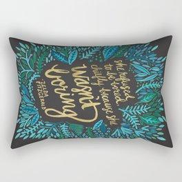 Zelda Fitzgerald – Blue on Black Rectangular Pillow