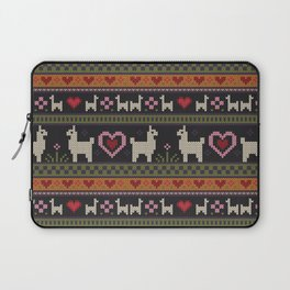 Llama Love Knit Laptop Sleeve