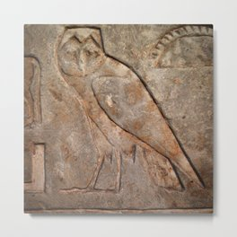 Ancient Owl Metal Print