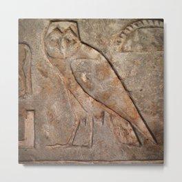 Ancient Owl Metal Print