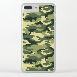 Woodland Day 1 Camouflage Seamless Pattern Clear iPhone Case