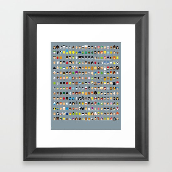 Famous Capsules - The Big One Framed Art Print