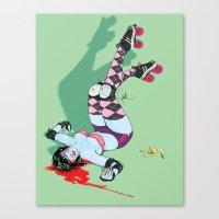 pivot Canvas Prints featuring Pivot Slip by Plantmonster Studios