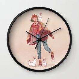 Color Mind Lady Wall Clock