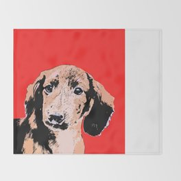 """Twist and Shout"" ~ Dachshund, Weiner Dog, Doxie, everywhere!   Throw Blanket"