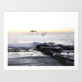 NJ Shore with Audrey Art Print