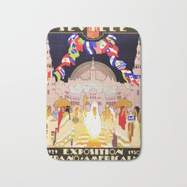 Seville Hispano American Expo 1929 art deco ad Bath Mat