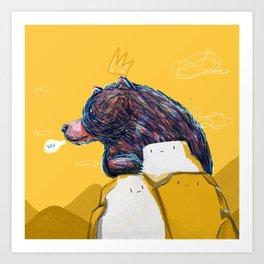 I bear you  Art Print