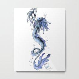 Dragon Mermaid Metal Print
