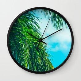 Tropical Palms Maui Hawaii Wall Clock